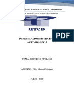 Derecho Administrativo - Actividad n5