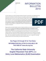 CSU EPT-ELM Information Bulletin