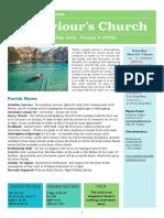 st saviours newsletter - 22 july 2018