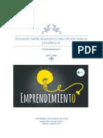 Resumen Emprendimiento Una Opcion Para El Desarrollo