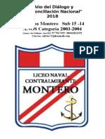12 Equipos Xi Copa Montero Sub 15 Años Categoría 2003