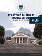 Uct Strategic Business Management Course Information Pack