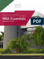 Usb Executive Development Mba Essentials Course Prospectus