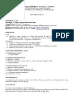 Cin5013 Sistemas de Classificação - UFSC
