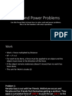 Work and Power Problems