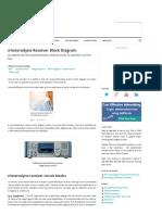 Superheterodyne Receiver Block Diagram Electronics Notes