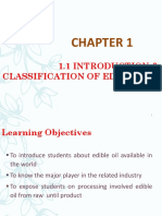Chapter 1 - Part 1 Introduction Classification of Edible Oil