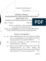 m.tech -II Sem Nanoscience and Nanotechnology Paper