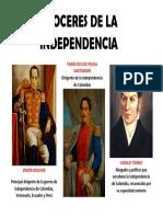 Proceres de La Independencia de Colombia