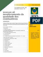 Boletim de monitoramento da qualidade dos combustíveis junho 2018