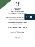 2017 Jimenez Reduccion de Tiempo de Entrega