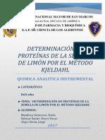 1-Determinación de Proteínas de La Semilla de Limón Por El Método Kjeldahl
