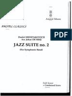 Jazz Suite Nº 2 (1)-Full Score-dmitri Shostakovich-johan de Meij