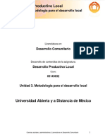 CDPL_Unidad 3. Metodologia Para El Desarrollo Local