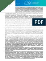 Comunicado - Ministros de Finanzas y Presidentes de Bancos Centrales - Julio 2018