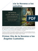Hoy Se Inicia La Novena a Los Ángeles Custodios