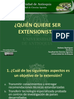 Quién Quiere Ser Extensionista