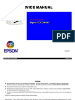 Epson Stylus Color 880 Service Manual