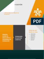 Tgl. Primera Sesión en Línea de Inducción Al Programa de Formación Tecnología en Gestión Logística