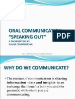 Oral Communication Art of Public Speaking 2 Revised 2016
