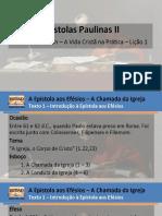 Paulianas 2 - Lição 1