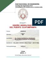 Diseño Hidrológico Del Puente Ccatumpampa - SALAZAR