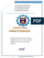 Equipos Mina Andaychagua