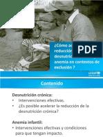 Reducir Desnutricion Cronica y Anemia