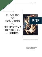 El Homicidio Desde La Prespectiva Historica Juridica