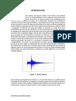 Espectro de una señal sismica