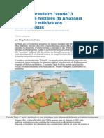 Governo brasileiro de hectares da Amazônia por US$ 60 milhões aos ambientalistas