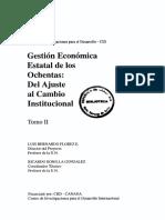 gestion económica estatal de los ochenta de ajues al cambio institucional