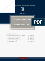Auditoria Financiera Neuma Tacna Sac - 5to A