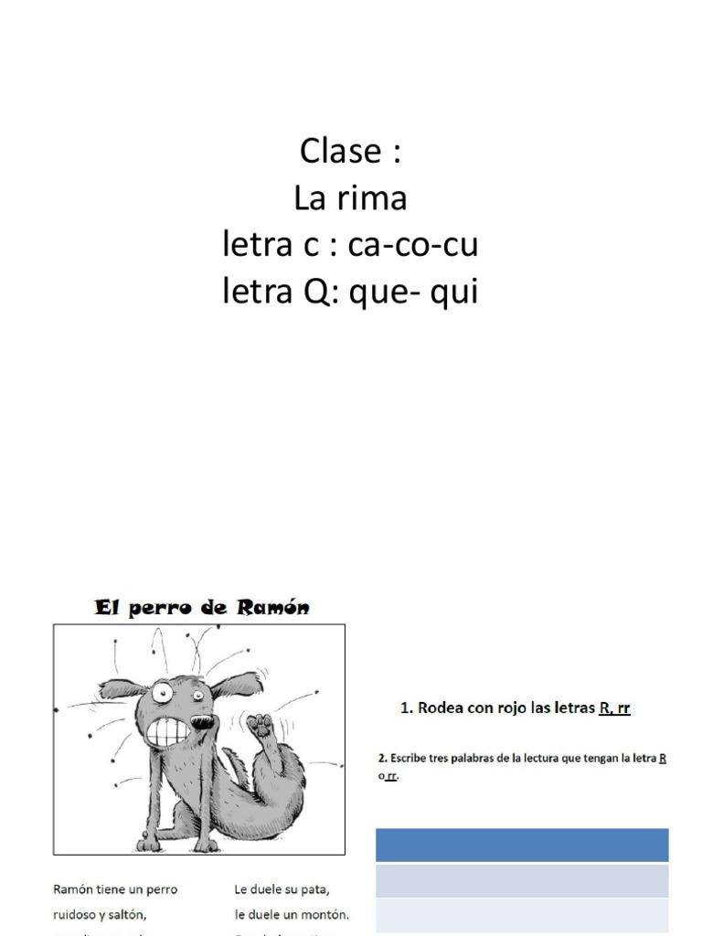Clase Cacocu Que Qui Rimas