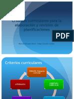 5 Criterios Curriculares Planificaciones