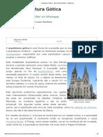Arquitetura Gótica - Arte Da Idade Média - InfoEscola