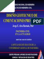 DISEÑO GEOTÉCNICO DE CIMENTACIONES PROFUNDAS