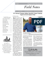 Fall 2007 Field Notes Newsletter, Friends of Creamer's Field