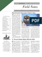 Spring 2007 Field Notes Newsletter, Friends of Creamer's Field