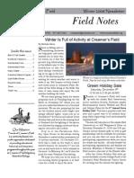 Winter 2008 Field Notes Newsletter, Friends of Creamer's Field