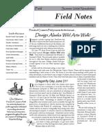 Summer 2008 Field Notes Newsletter, Friends of Creamer's Field