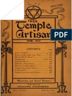 The Temple Artisan 1917 1918