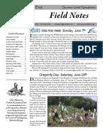 Summer 2009 Field Notes Newsletter, Friends of Creamer's Field