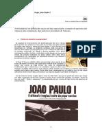 A Misteriosa Morte Do Papa João Paulo I