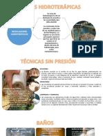 TECNICAS HIDROTERAPICAS