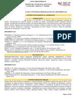 ANEXO IV – Conteúdos Programáticos e Referências