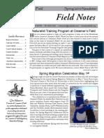 Spring 2010 Field Notes Newsletter, Friends of Creamer's Field