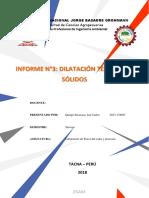 Cuadro y Graficas Del Informe de Dilatacion