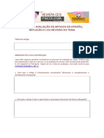 Formulário de Avaliação B REV. CES PSI