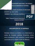 Proyecto Sistema Control de Inventarios Para La Heladería SULTANA